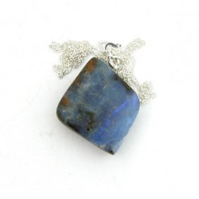 APP: 10.7k Boulder Opal & Sterling Silver Necklace