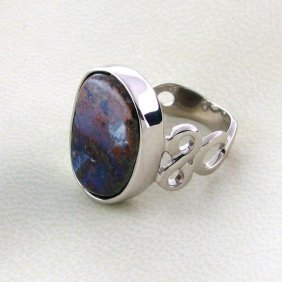 APP: 8.4k 14.76CT Boulder Opal & Sterling Silver Ring