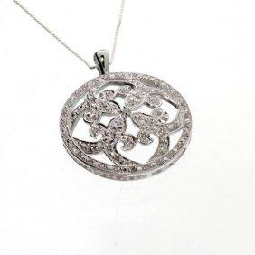 APP: 1k 0CT Diamond & Sterl Silver Pendant W/18'' Chain