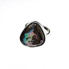 APP: 5.7k 13.42CT Boulder Opal & Sterling Silver Ring