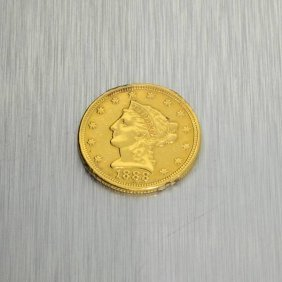 1888 $2.5 U.S. Liberty Head Gold Coin - Investment