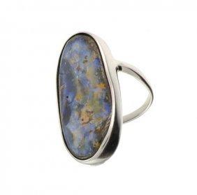 APP: 19.2k 9.70CT Boulder Opal & Sterling Silver Ring