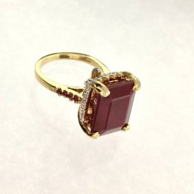 APP: 16k 14kt Yellow & Gold16CT Ruby & Diamond Ring