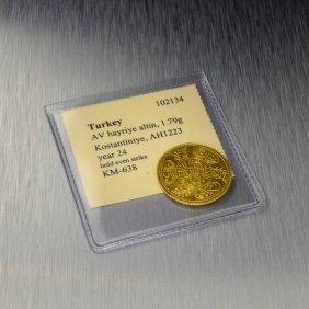Turkey AV Hayriye Altin Kostantiniye AH1223 Gold Coin