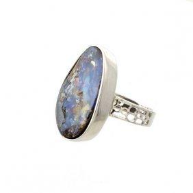 APP: 11.4k 3.93CT Boulder Opal & Sterling Silver Ring