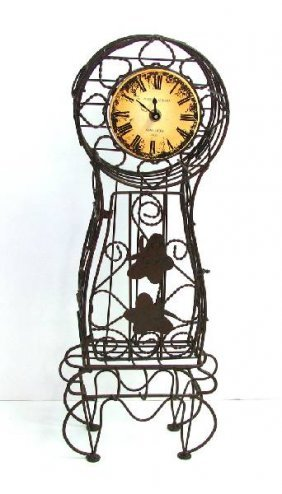 21 In. Metal Clock.