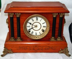 Antique American Mantle Clock- Sold As Is