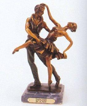 """Reissue """"Dancers"""" Bronze By Icart"""