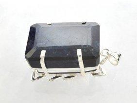 APP: 20k Sebastian 324CT Sapphire Silver Pendant
