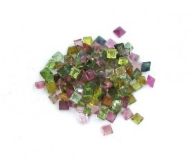 APP: 3k 20CTMulti-Colored, Square Cut Tourmaline Parcel