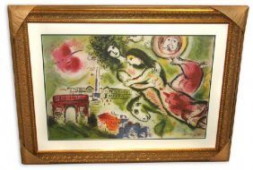Marc Chagall 'Romeo And Juliet' Museum Framed & Matted