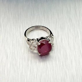 APP: 8.2k 7.90CT Ruby & Sterling Silver Ring