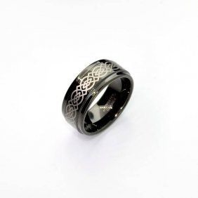 Rare Exquisite Tungsten Size 10 Ring