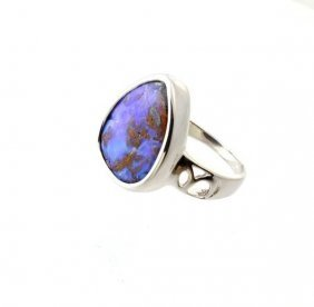 APP: 16.8k 2.14CT Boulder Opal & Sterling Silver Ring