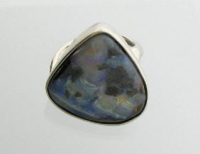APP: 15.8k 8.58CT Boulder Opal & Sterling Silver Ring