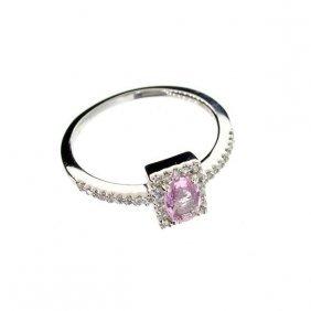 APP: 3k 14kt White Gold, 0k Sapphire & Diamond Ring