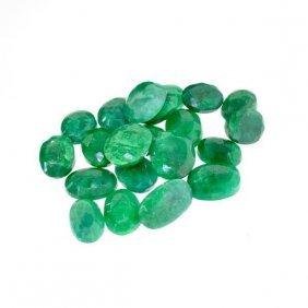 APP: 14k 101.92CT Mixed Cut Emerald Parcel
