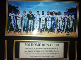 Historic Signed ''500 Home Run Hitters''