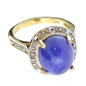 APP: 13k Yellow & White Gold, Tanzanite & Diamond Ring
