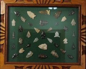 Frame of Arrowheads, Plains Indian