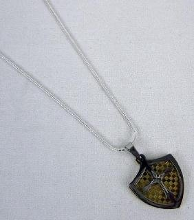 Shield Stainless Steel Pendant Necklace