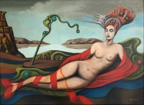 Max Ernst (oil On Canvas)