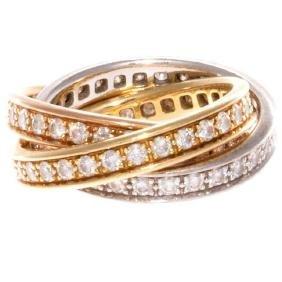 Cartier Diamond Trinity 18k Gold Ring