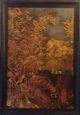 Nguyen Gia Tri: Mid Century Lacquer Painting, 1939