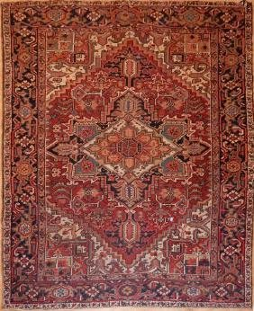 Antique Persian Heriz Rug 6.7x9.0