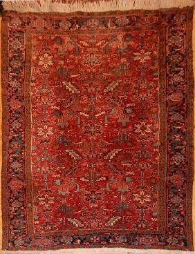Antique Persian Heriz Rug 8.4x11.9