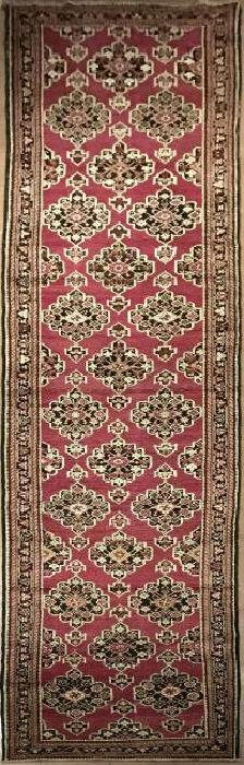 Antique Karabagh Runner Rug 3.5 X 18.10