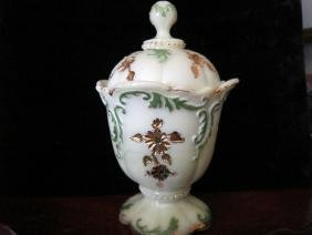 Northwood Custard Glass Sugar Bowl