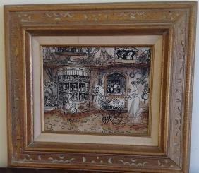Robert Scott: Signed Vintage Painting