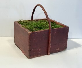Primitive Carrier With Bentwood Handle