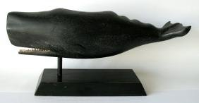 Folk Art Wood Carved Sperm Whale