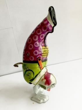 Clown Walking On Hands Wind Up Toy