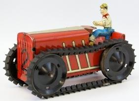 Vintage 1940's MARX 4-Wheel Climbing Farm Tractor Toy