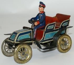 Vintage Fischer Wind-up Touring Oldtimer Car & Driver
