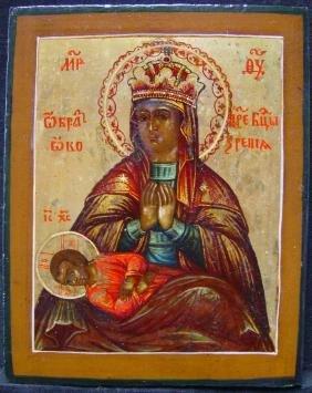 Mother God Of Modenskaja Or Kosinskaja Russian Icon