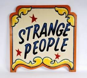 Â'strange PeopleÂ' Carnival Side Show Sign By Jim Hand