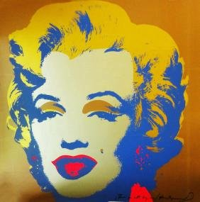 Andy Warhol Marilyn, Signed Gold