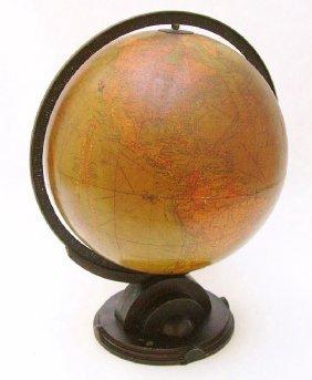 """Machine Age Design Replogle 12"""" Library Globe 1934"""