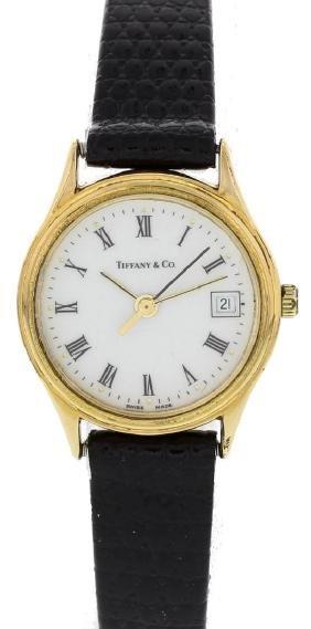 Tiffany & Co Portfolio Electroplated Gold Watch