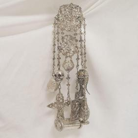 Antique S. Blanckensee Sterling Silver Chatelaine