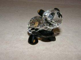 SWAROVSKI CRYSTAL PANDA WITH BOX