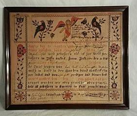 Antique Fraktur Dated 1806