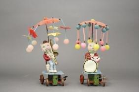 Lot: Pig Playing Trombone, Pig Playing Drum
