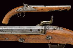A Percussion Pistol By Nock