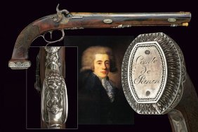 A Composite Percussion Pistol (lebeda And Boutet) From