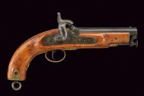 A Rare Coast Guard 1855 Model Percussion Pistol